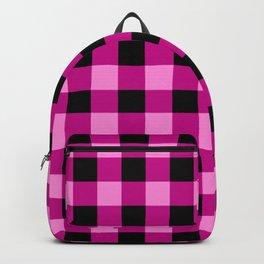 Pink Magenta Buffalo Check Backpack