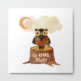 Up Owl Night Metal Print