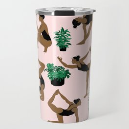 yoga with plants Travel Mug