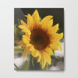 Sunny Sunflower - Flower Art Metal Print