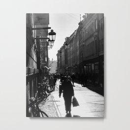 Walking in Bologna Metal Print