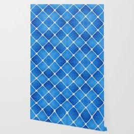 Denim Pattern with Diagonal Lines Wallpaper