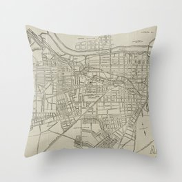Vintage Map of Augusta GA (1913) Throw Pillow
