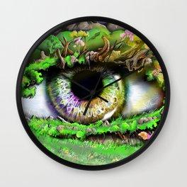 Natures Eye  Wall Clock