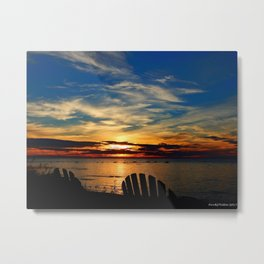 Peace and Relaxation at the Sea shore Metal Print