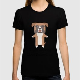 I Just Freaking Love Boxers Cute Dog Design T-shirt