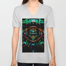 In the Heart of the Machine Unisex V-Neck