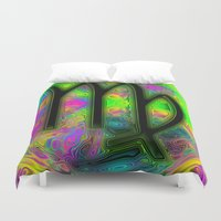 virgo Duvet Covers featuring Virgo by Synesthetic