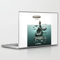 sea turtle Laptop & iPad Skins featuring turtle by Кaterina Кalinich