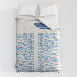 217 Finicky Fish (plenty of fish in the sea) Duvet Cover