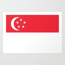 Flag of Singapore Art Print