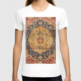 Indian Boho III // 16th Century Distressed Red Green Blue Flowery Colorful Ornate Rug Pattern T-shirt
