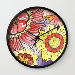 Floral Design 1 Wall Clock