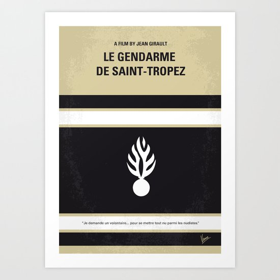 No186 My Le Gendarme de Saint-Tropez minimal movie poster Art Print