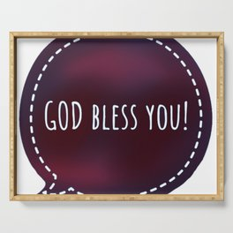 GOD bless you (red violet) Serving Tray