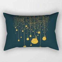 Light Bulb City skyline Rectangular Pillow