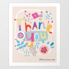 Thank You! Art Print