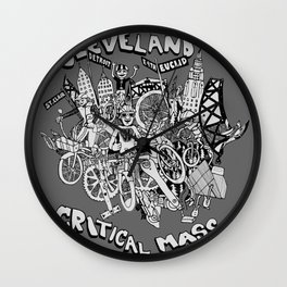 Cleveland Critical Mass Poster Wall Clock