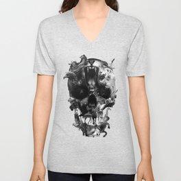 Kingdom Skull B&W Unisex V-Neck