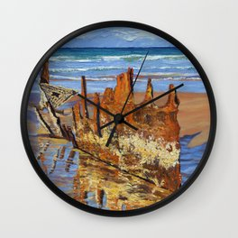 Beached Remains Wall Clock