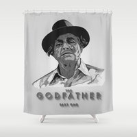 the godfather Shower Curtains featuring The Godfather - Part One by Mark A. Hyland (MAHPhoto)