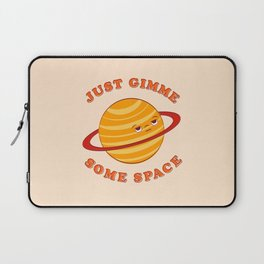 Just Gimme Some Space - Orange Laptop Sleeve