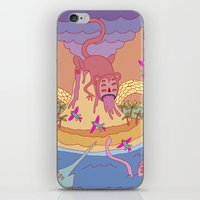 monkey island iPhone & iPod Skins featuring monkey by mleko