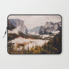 Amazing Yosemite California Forest Waterfall Canyon Laptop Sleeve