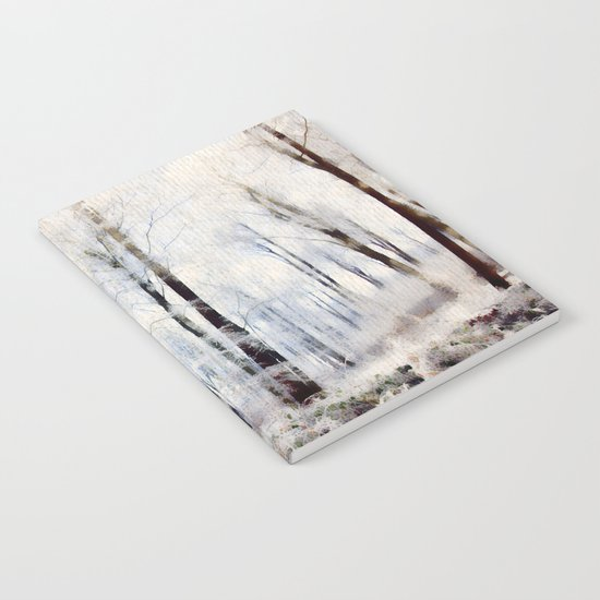 Winter landscape Aquarell Notebook
