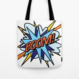 Comic Book Pop Art BOOM Tote Bag