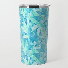 Blue Leaves Travel Mug