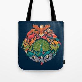 Aerial Rainbow Tote Bag