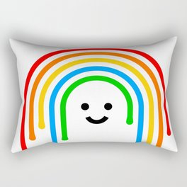 Drippy rainbow Rectangular Pillow