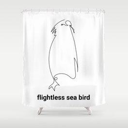 FLIGHTLESS SEA BIRD - ABSTRACT PENGUIN #cute #animals #minimal #art #design #kirovair #buyart #decor Shower Curtain