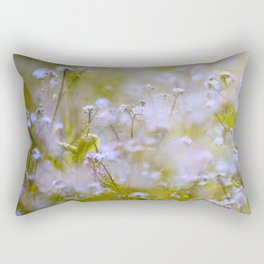 Forget-me-nots On a Windy Day #decor #society6 Rectangular Pillow
