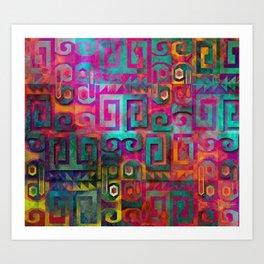 Wari colorful Art Print