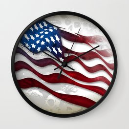Old Glory...long may she wave Wall Clock