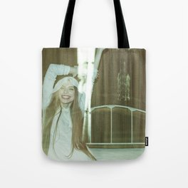 the unbearable tunnel of light and happiness Tote Bag