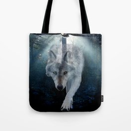 The Gathering - Wolf and Eagle Tote Bag