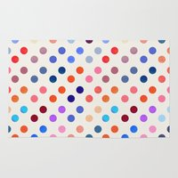 polka Area & Throw Rugs featuring Polka Proton  by Picomodi