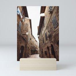 san gimignano village in italy Mini Art Print