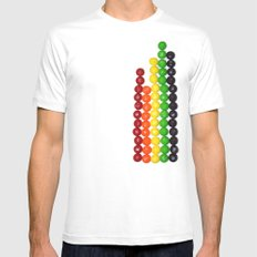 Skittle Stats MEDIUM White Mens Fitted Tee