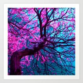 purple tree XII Art Print