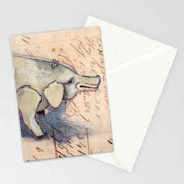 Vintage Metal Mechanical Pig Stationery Cards