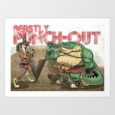 Beastly Punch-Out Art Print