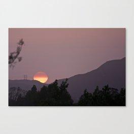 half sun Canvas Print