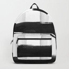 Black and White Brush Strokes Backpack