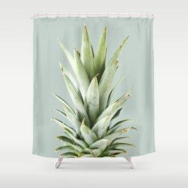green pineapple Shower Curtain