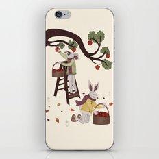 Autumn Apple Picking iPhone & iPod Skin