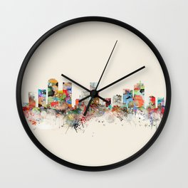denver skyline Wall Clock